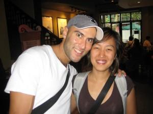 Carol and I in the Xintiandi Starbucks
