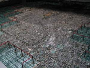 Scaled Model of Beijing at Urban Planning Museum