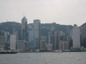 Hong Kong Island skyline from the Star Ferry