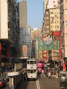 Wanchai Street Scene from the tram